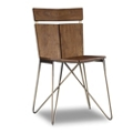 Solid Wood Chair with Metal Frame, 55626