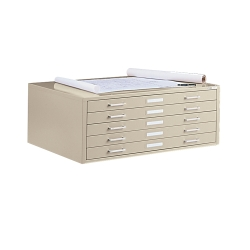 "41"" W Five Drawer Flat File Cabinet, 70047"