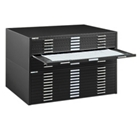 "54"" Wide Ten Drawer Flat File Cabinet, 70096"