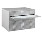"47"" Wide Ten Drawer Flat File Cabinet, 70095"