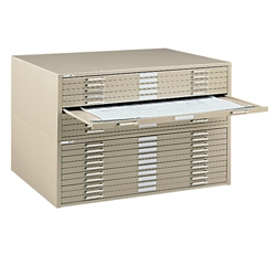 "41"" W Ten Drawer Flat File Cabinet, 70094"