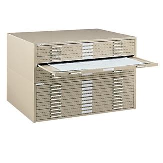 "41"" W Ten Drawer Flat File Cabinet, 70094"