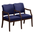 Spencer Two Seater with Center Arms in Solid Fabric, 75003
