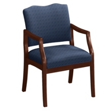 Spencer Arm Chair in Print Fabric or Vinyl, 75012