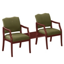 Spencer Two Chairs with Square Table in Print Fabric or Vinyl, 75020