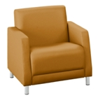 Leather Upholstery Oversized Guest Chair, 75135