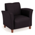 Flare Faux Leather Lounge Chair, 75158