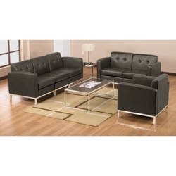 Faux Leather Modern Reception Set, 75200