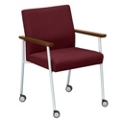 Uptown Oversized Chair with Casters in Fabric, 75263
