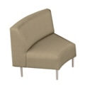 Inside Curved Guest Chair in Fabric, 75281