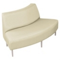Outside Curved Loveseat in Vinyl, 75297