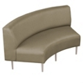 Inside Curved Loveseat in Fabric, 75283