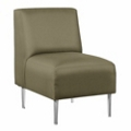 Armless Club Chair in Fabric, 75288