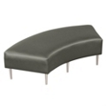 Curved Two-Seat Bench in Vinyl, 75300
