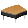 Wedge End Table with Vinyl Sides, 75301