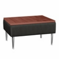 Square End Table with Vinyl Sides, 75302