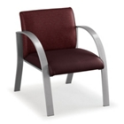 400 lb. Capacity Heavy Duty Curved Arm Vinyl Guest Chair, 75345