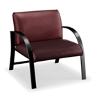 700 lb. Capacity Oversized Curved Arm Vinyl Guest Chair, 75346