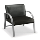 700 lb. Capacity Oversized Curved Arm Vinyl Guest Chair, CD04763