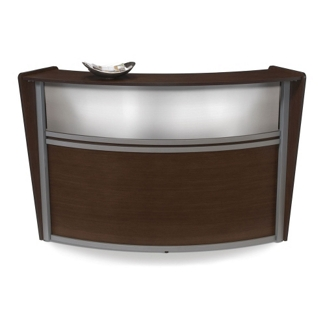 "Marque Single Reception Station with Plexi-Panel - 72""W x 32""D, 75391"