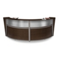 """Marque Double Reception Station with Plexi - 124.25""""W x 49""""D, 75392"""