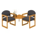 Two Chairs with Corner Table, 75405