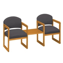 Two Chairs with Center Table, 75406