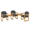Three Chairs with Corner and Center Table Set, 75407