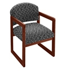 Premium Upholstered Sled Base Guest Chair with Arms, 75409