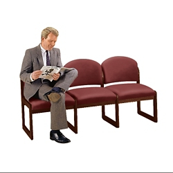 Premium Upholstered Armless Three-Seat Sofa, 75414