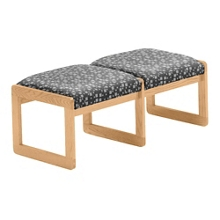 Premium Upholstered Two-Seat Bench, 75415