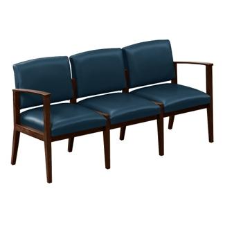 Vinyl Three Seat Sofa, 75442