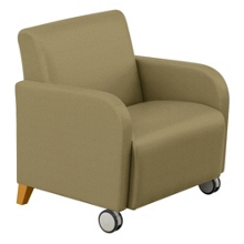 Oversized Fabric Guest Chair with Casters, 75446