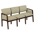 Fabric Three Seat Panel-Arm Sofa, 75452