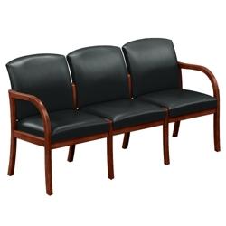 Vinyl Three Seat Sofa , 75461