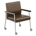 Uptown Oversized Guest Chair with Casters in Vinyl, 75463