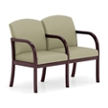 Two Seat Fabric Sofa with Center Arm, 75498