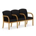 Three Seat Fabric Sofa with Center Arm, 75499