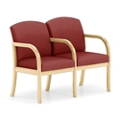 Two Seat Vinyl Sofa with Center Arm, 75509
