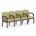 Four Seat Fabric Sofa with Center Arms, 75512