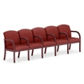 Five Seat Vinyl Sofa with Center Arms, 75514