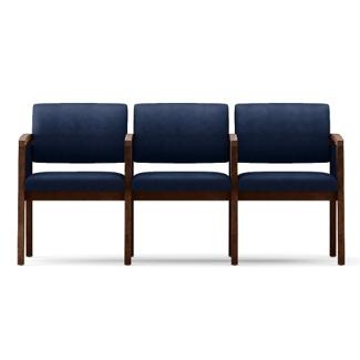 Fabric Three Seat Panel-Arm Sofa with Center Arm, 75521