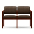 Vinyl Two Seat Panel-Arm Sofa with Center Arm, 75535