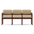 Vinyl Three Seat Panel-Arm Sofa with Center Arm, 75536