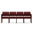 Vinyl Four Seat Panel-Arm Sofa, CD02160
