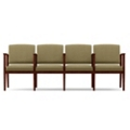 Fabric Four-Seat Sofa with Center Arm, 75557
