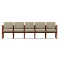 Fabric Five-Seat Sofa with Center Arm, 75559