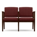 Vinyl Two-Seat Sofa with Center Arm, 75567