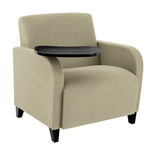 500lb. Capacity Oversized Fabric Guest Chair with Tablet Arm, 75583