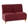 Fabric Armless Two Seat Sofa, 75588